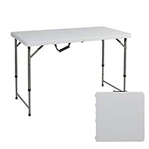 soges Campingtisch Klapptisch Faltbarer und höhenverstellbarer Gartentisch aus Aluminium Keine Montage und leicht zu tragen, 120 * 60 cm, HP-122CZ
