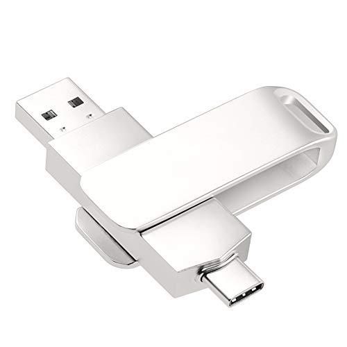 CHENG U Disk Memory Stick-Speicheradapter, USB 3.0-Flash-Laufwerk Übertragen von Dateien 360 Umdrehung für Tablet PC-Telefon-Typ-C Ios/Android (weiß),Weiß,64G
