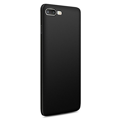 vanki® iPhone 7 Plus hülle Tasten Matt Hart PC Schutzhülle Case Cover Bumper Vollschutz Handyhülle für iPhone 7 Plus(5,5 Zoll) (Schwarz) Schwarz