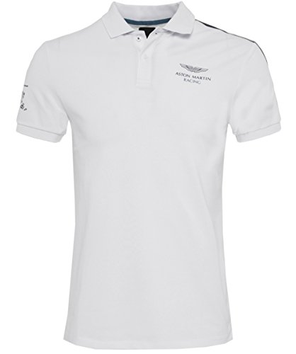 Hackett Amr Tc Shldr Tp, Polo Uomo, Bianco (White 800), Medium