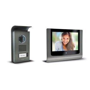 Extel 720216 Levo Videosprechanlage mit Farbdisplay, 2 Leitungen, Monitor mit 7 Zoll (18 cm)