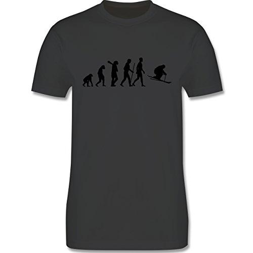 Evolution - Skiabfahrt Evolution - Herren Premium T-Shirt Dunkelgrau