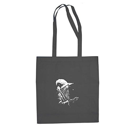 Planet Nerd HdR: Der weiße Zauberer - Stofftasche/Beutel, Farbe: grau