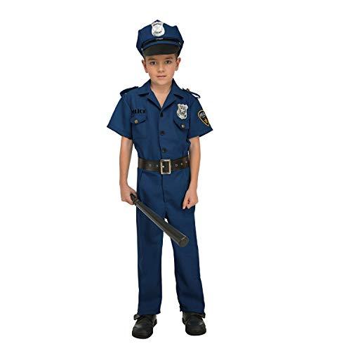 My Other Me Me-204237 Disfraz de policía para niño, 3-4 años (Viving Costumes 204237