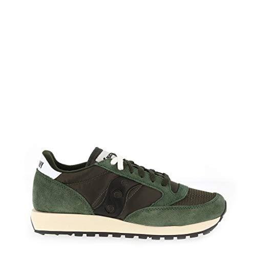 Saucony jazz original vintage, sneaker unisex – adulto, verde (dark green/black), 45 eu