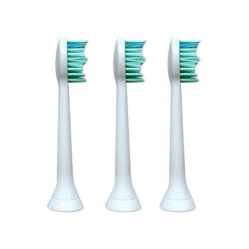 PCS 3 Stück Sonic Elektrische Zahnbürstenköpfe für PCS Elektrische Zahnbürste (White) (CS-T300-1)