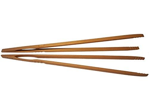 BierEx XXL Profi Grillzange aus Holz 88cm 880mm Extra Lang Lange Buche Holzgriff Buchenholz Mehrzweckzange Pfanne Grill Multizange Küchenzange auswählbar 32 40 46 60 74 80 88 cm Zangen