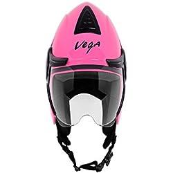 Vega Verve Women's Open Face Helmet (Pink)