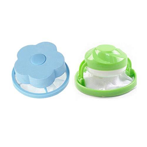 2pcs Schwimmende Flusenfänger Fusseltasche fur Waschmaschine, Tragbare Schwimmendes Objekt Filtertasche Wiederverwendbaren, leicht zu reinigen um die Kleidung sauberer zu machen (Blau+Grün) -