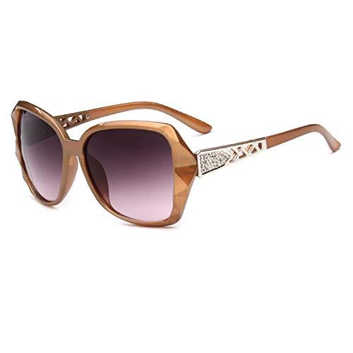 OULN1Y Sport Sonnenbrillen,Vintage Sonnenbrillen,Large Frame Sunglasses Women Vintage Gradient Shopping Glasses Uv400 Travel Feminino