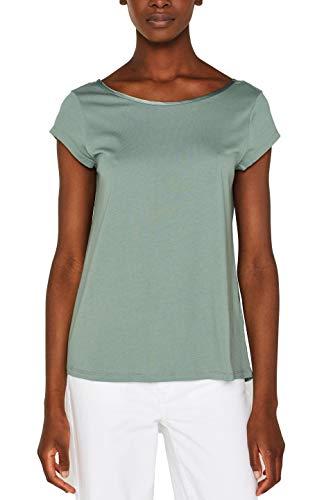 ESPRIT Collection Damen 049EO1K001 T-Shirt, Grün (Light Khaki 345), Herstellergröße: XX-Large -