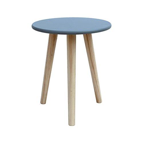 Rebecca mobili tavolino rotondo tavolo da appoggio grigio legno mdf paulownia arredamento contemporaneo camera da letto salotto (cod. re6120)