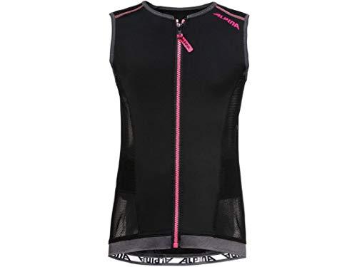 ALPINA Mädchen JSP 3.0 Junior Vest Protektor, Black-pink, 140/146