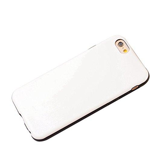 Wkae iphone 6 / 6s, modèle faux cuir style coloré des cas tpu + pc - 2 dans 1 matériau couverture de peau cas pour iphone 6 / 6s Wkae Case Cover ( PATTERN : Rose , Size : IPhne 6/6S ) White