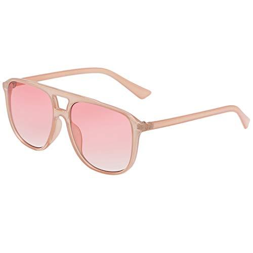 Dtuta Sonnenbrillen Kette Rosegold Damen Sommer Leichte Sonnenbrille MäNner Und Frauen PersöNlichkeit Box Brille Trend Punk-Stil Und Leicht Zu Mode Zu Tragen