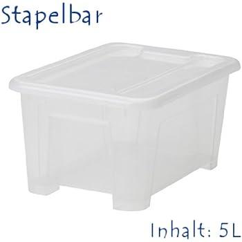 """IKEA Aufbewahrungsbox """"SAMLA"""" 5-Liter-Box MIT Deckel"""