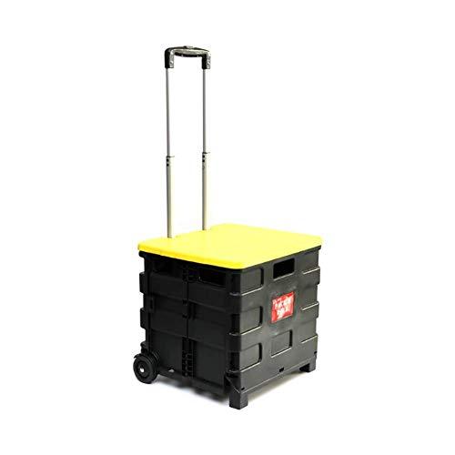 Leggero pieghevole del carrello di altezza regolabile, può essere utilizzato come sgabello, in lega di alluminio staffa, stabile e ad alta cuscinetto di carico per una facile memorizzazione-Giallo