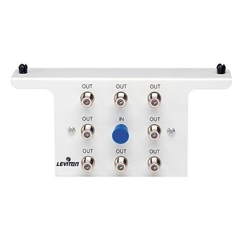 Leviton 47690-8C 1x8 Passive TV/CATV Splitter Module with Bracket by