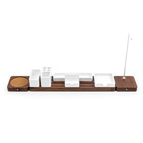 Ugmonk Modulare Schreibtisch-Organizer aus Holz, minimalistischer Schreibtisch-Sortierer - Organisieren Sie Ihren Arbeitsbereich, Bürobedarf, Küche oder Schlafzimmer Extended Set walnuss -