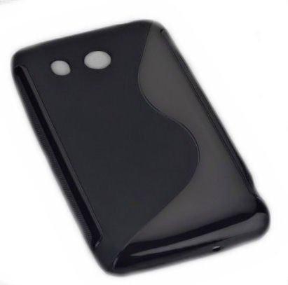 Design Rubber Silikon TPU Case in Schwarz für Huawei Ascend G525 - Handy Cover Hülle Schale