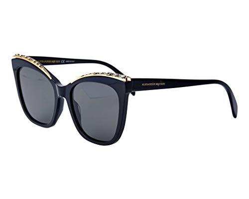 Alexander McQueen Sonnenbrillen (AM-0182-S 001) glänzend schwarz - gold - grau