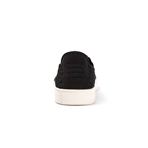 Scarpe primavera/scarpe casual/Piede femminile tessuto scarpe Nero