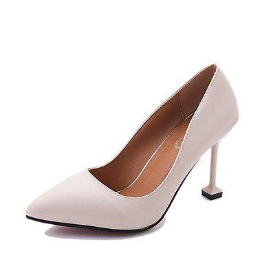 Rtry Women Light Heels Soles Pu Vestidos De Verano Stiletto Heel Almond Black Ruby 2a-2 3 / 4en Us5.5 / Eu36 / Uk3.5 / Cn35