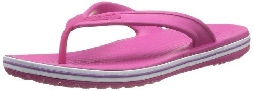 crocs Crocband LowPro Flip 15690-69L-192 Unisex-Erwachsene Zehentrenner, Pink (Fuchsia/Dahlia), EU 41/42
