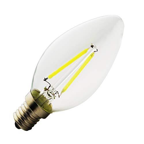 E14 ,C35,C35L,Neue LED, Edison Screw Candle Glühbirnen,(2w,4w,6w) ,AC 220-240V,Kerze Glühbirne,6000K Kaltweiß, Klarglas mit hoher Durchlässigkeit.,1 Stück (Typ: A, 2 Watt) -