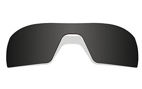 Schwarz Polarisierte Ersatz Gläser für Oakley Oil Rig Sonnenbrille