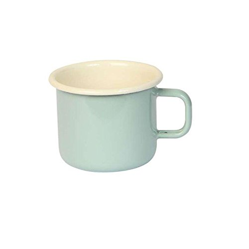 Dexam 450 ml taza acero esmaltado Vintage, verde