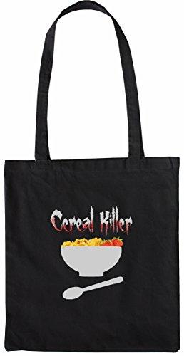 Mister Merchandise Tote Bag Cerial Killer Serial Cerialien Borsa Bagaglio , Colore: Nero Nero