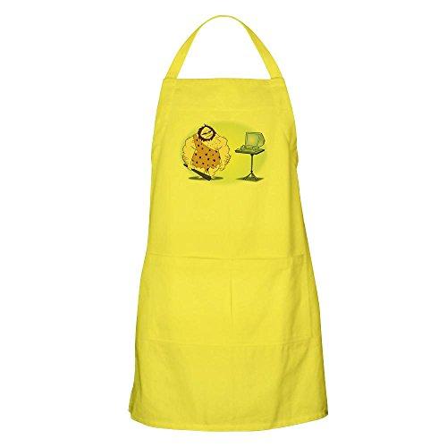 CafePress-Caveman BBQ-Küche Schürze mit Taschen zitronengelb (Caveman Kochen)