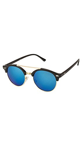 VESPL UV Protected Sky-Blue Mercury Golden Designer Women\'s Sunglasses-V-6603