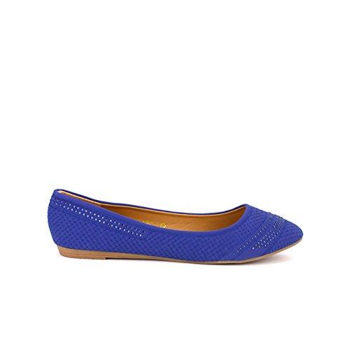 Cendriyon, Ballerine Blue ROYALA Mode Chaussures Femme Bleu