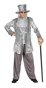 Ciao- Costume Adulto Zombie Ghost TG. XL Disfraces, Color gris, 16167