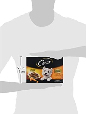 Cesar Senior Deliciously Fresh Selection in Jelly 8 x100g, Pack of 6,48 pouches