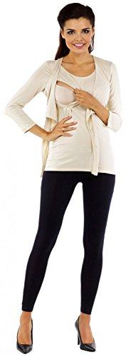 Zeta Ville - Maternité top de grossesse - Tee-shirt d'allaitement - femme - 619c Beige