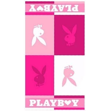 Playboy Blocks Pink Beach Towel (76 x 152cm) (Pink)