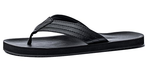 new concept 05c83 38410 Viihahn Men s Sandals Flip Flops Extra Large Size Arch Support Slippers  Size 11 UK Black