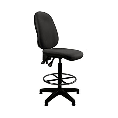 HIGH BACK BLACK DRAUGHTSMAN OFFICE HIGH COUNTER