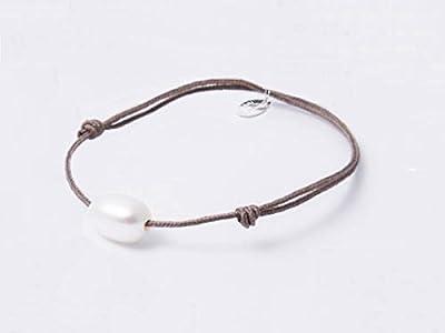 Bracelet Perle de culture ovale blanche Perles d'Ange