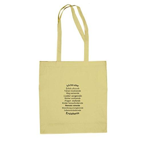 Ich bin eine Erzieherin - Stofftasche / Beutel Natur