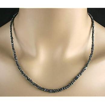 Rohdiamant Kette Collier, in schwarz, 42ct.