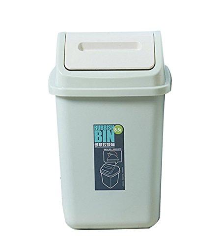 Lshwht Hwh Kunststoff Mulleimer Shake Cover Storage Tube Badezimmer