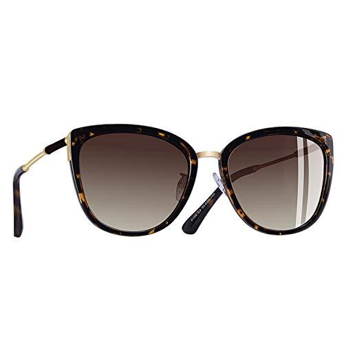 Life's A Struggle Katzenaugen-Sonnenbrille Frauen arbeiten Kleine polarisierten Sonnenbrillen Metallbeine Shades UV400 A105, C4Brown