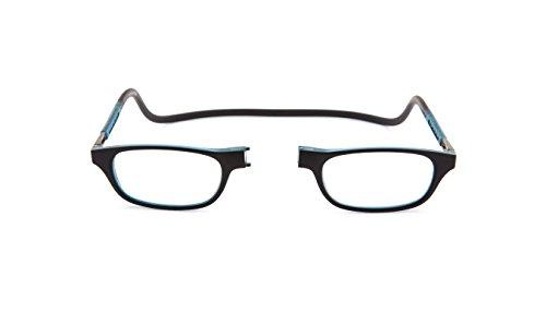 Neu Slastik Magnetisch Clic Stil Lesebrille Rahmen Leia 009 Brechkraft +2.50 mit weichem Brillentui