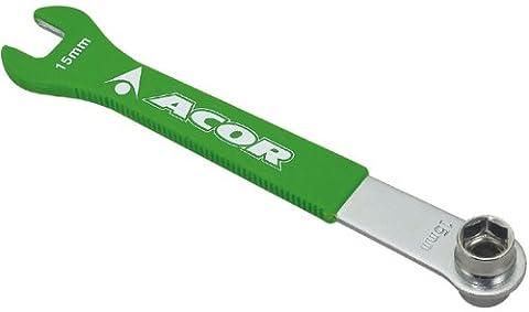 Acor Fahrrad Pedal Schlüssel & Kurbel Schraube Sockel.