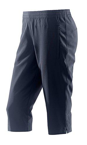 Michaelax-Fashion-Trade - Pantalon de sport - Capri - Uni - Femme Bleu - Blue - Night (00352)