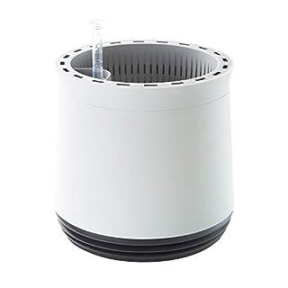AIRY Pot - Luftreiniger Blumentopf Für Allergiker - Patentierter Pflanzen-Topf Als Natürlicher Raumluftfilter Gegen Schadstoffe, Haus-Staub, Pollen, Geruch (Grau)